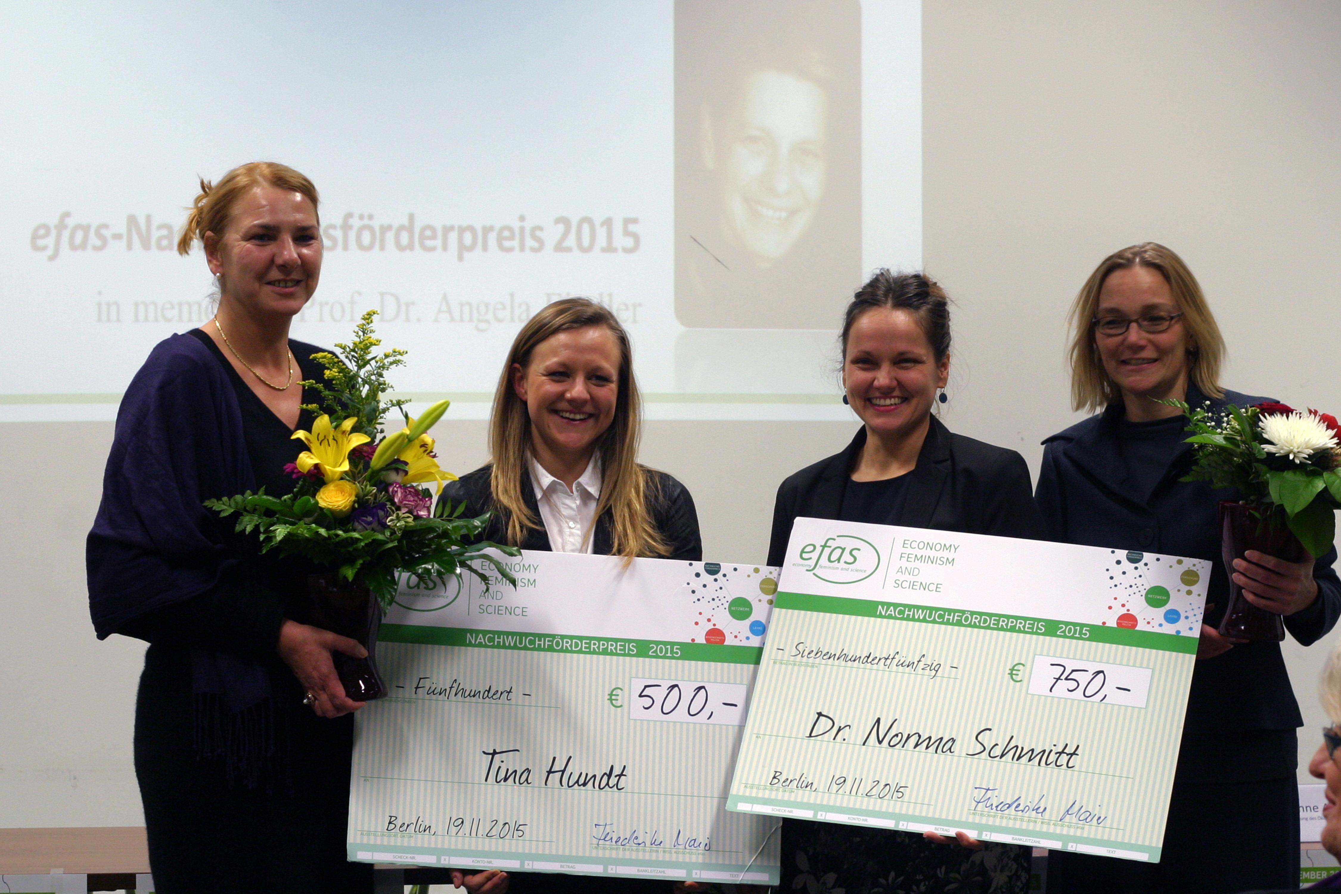 Christine Rudolf, Tina Hundt, Norma Schmitt, Miriam Beblo (v.l.n.r.)